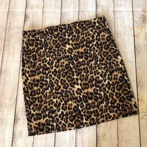 Leopard print Gap skirt